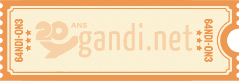Gandi.net ticket