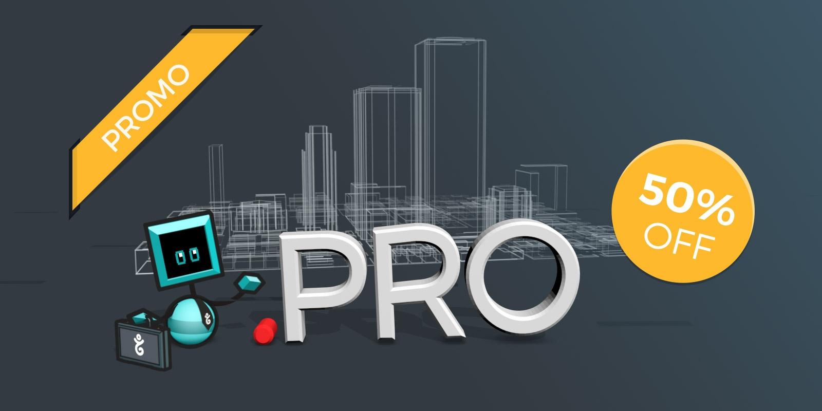 Go .pro this spring at half-price