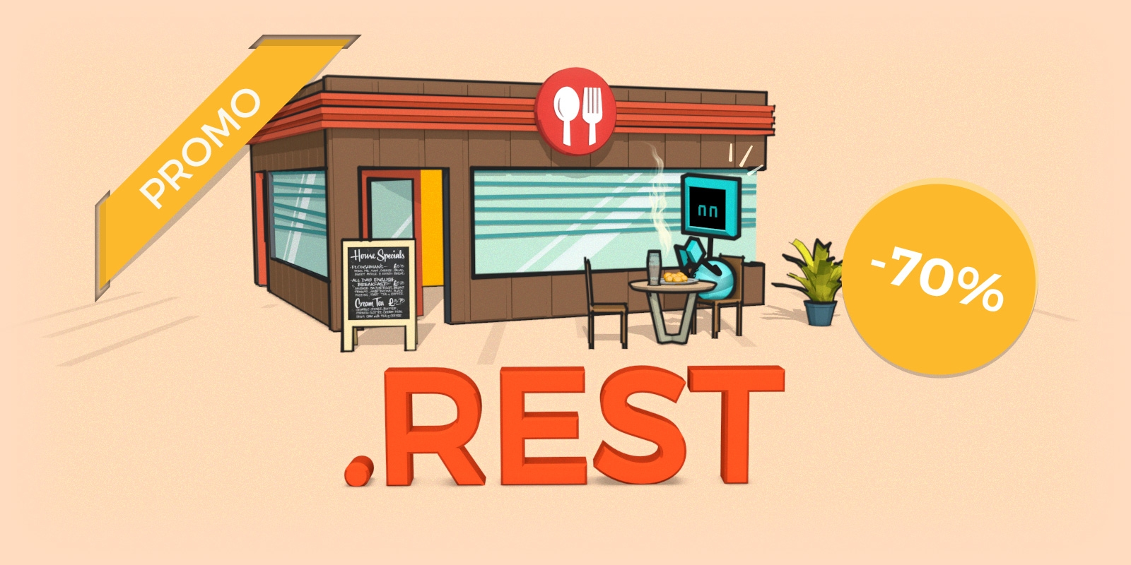 70% off .bar and .rest domain creations