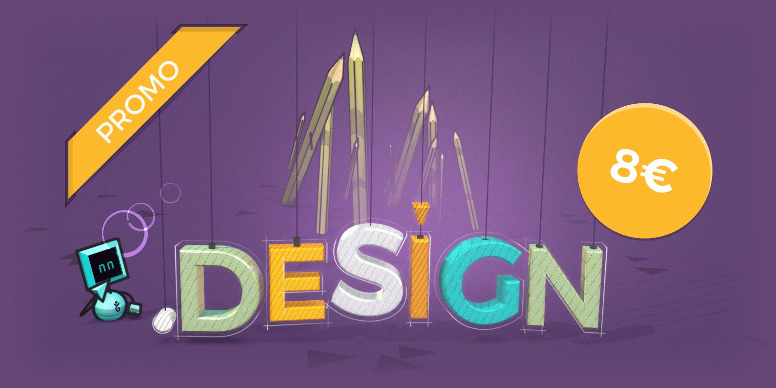 Oferta especial en los nombres de dominio en .DESIGN