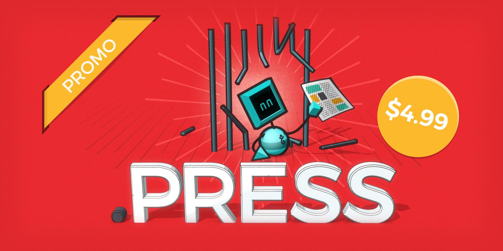 World Press Freedom month promo on .press