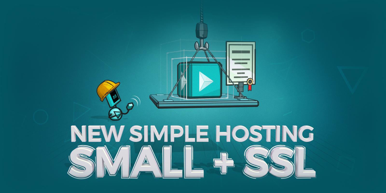 现在购买  Simple Hosting 小型 + SSL 方案只需要 S 方案的价钱!