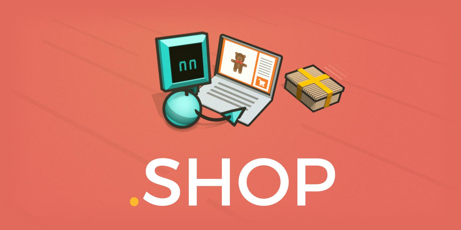 Celebra el primer aniversario de .shop