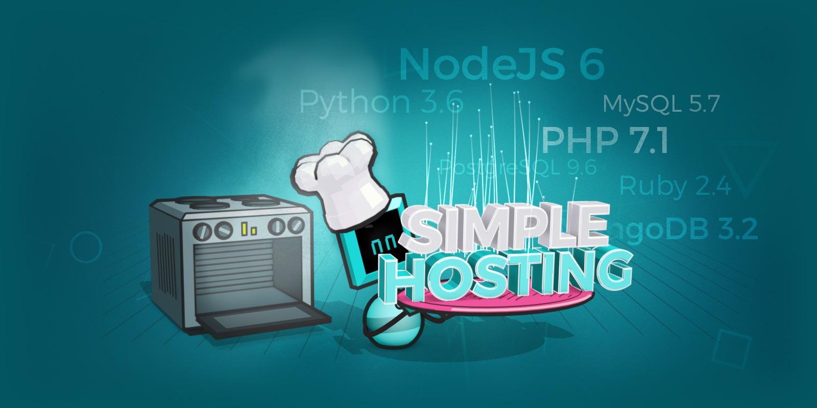 Nuevas combinaciones de lenguajes y bases de datos en Simple Hosting