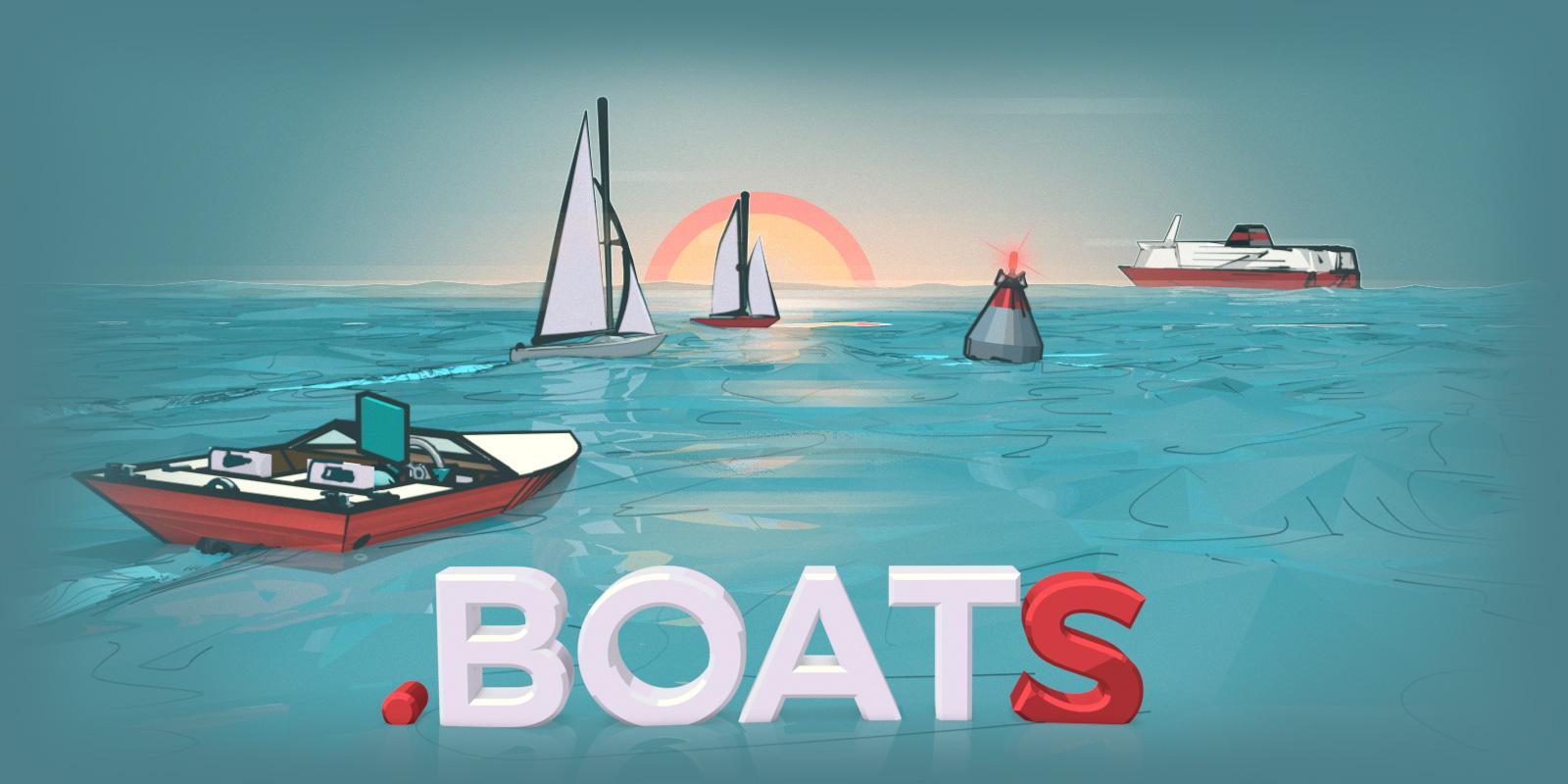 現在起至 5 月 16 為止,用半價就可以買到一艘船(.BOATS)