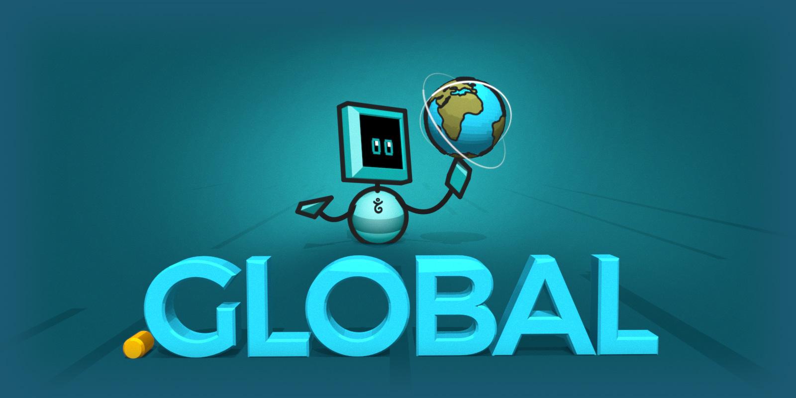 A .global domain name promo