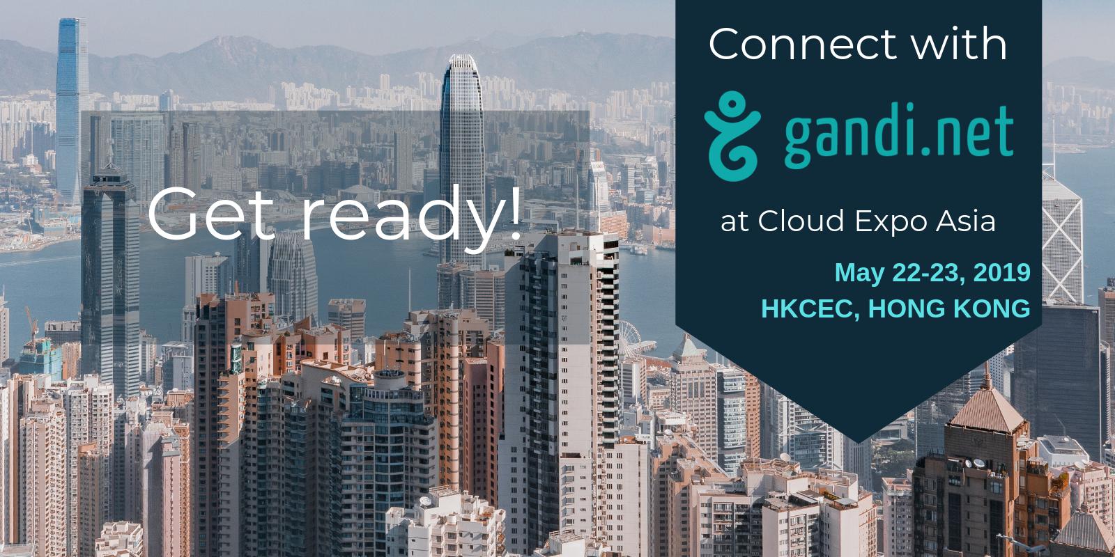 Gandi 团队将在香港亚太云端科技博览会与您相见!