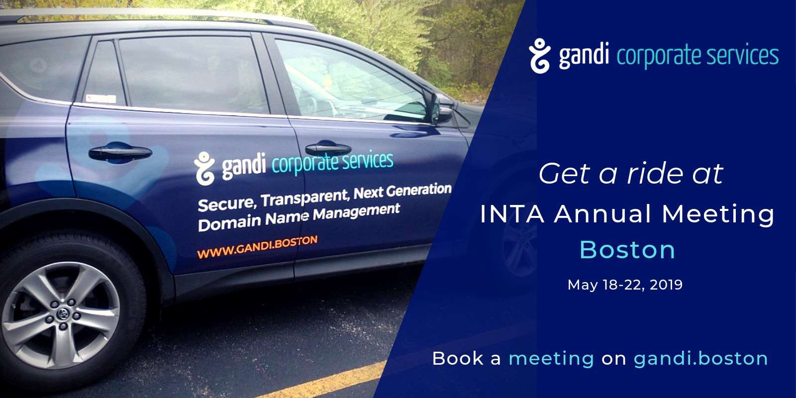 Get a ride at INTA with Gandi Corporate Services!