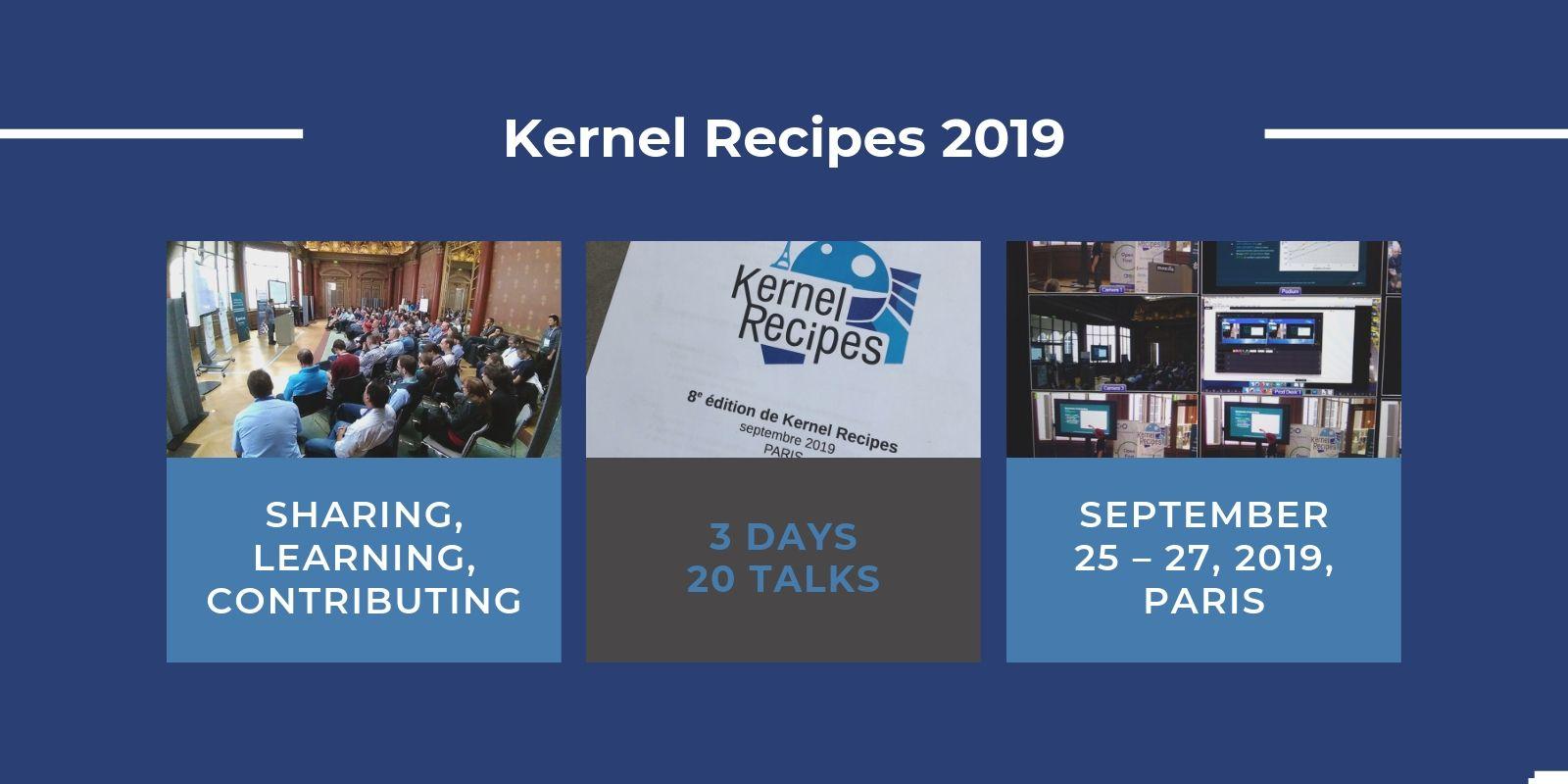 Kernel Recipes 2019 : les inscriptions sont ouvertes !