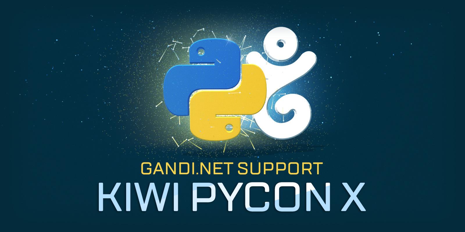 ¡Kiwi PyCon X cuenta con el apoyo de Gandi!