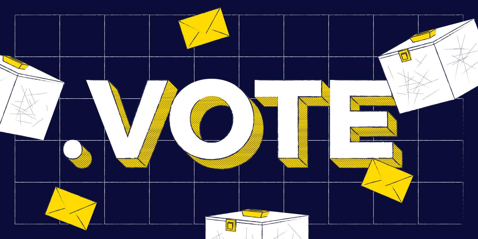 Los dominios .voto y .vote ya están disponibles para todos