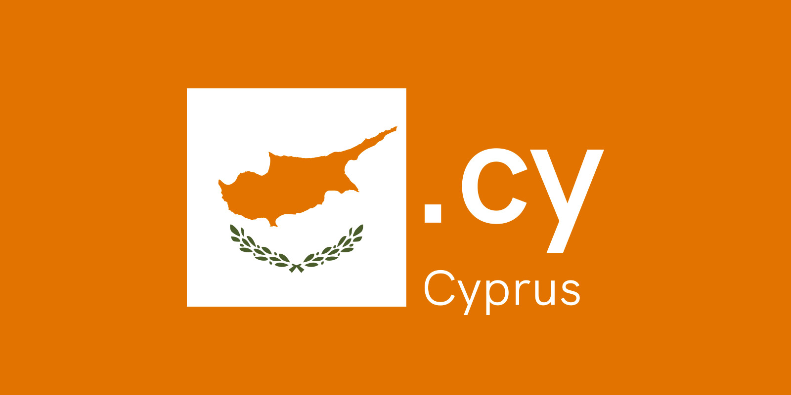 Cyprus has its own domain, .cy!