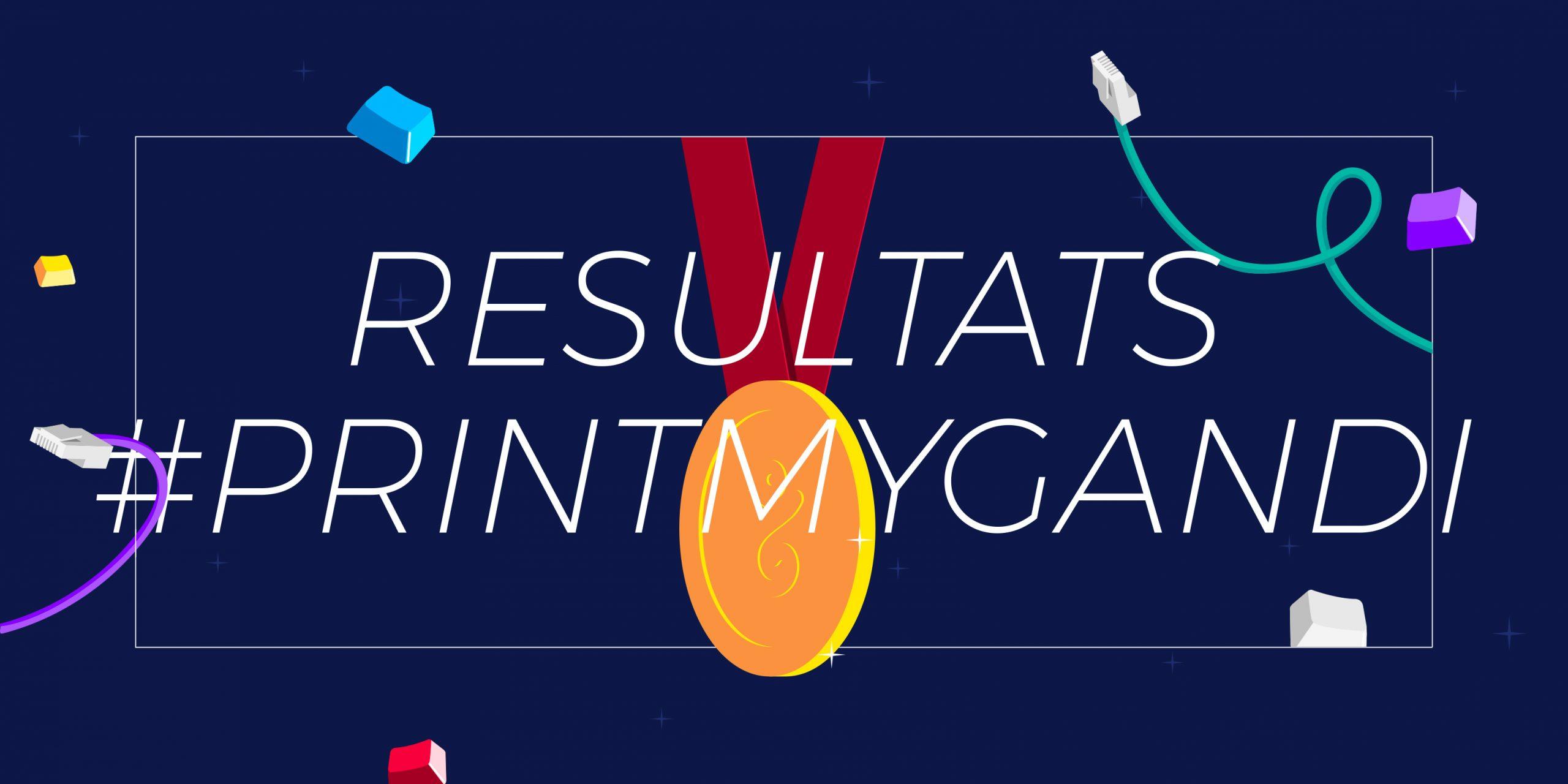 Les grands gagnants du concours de T-shirt #PrintMyGandi