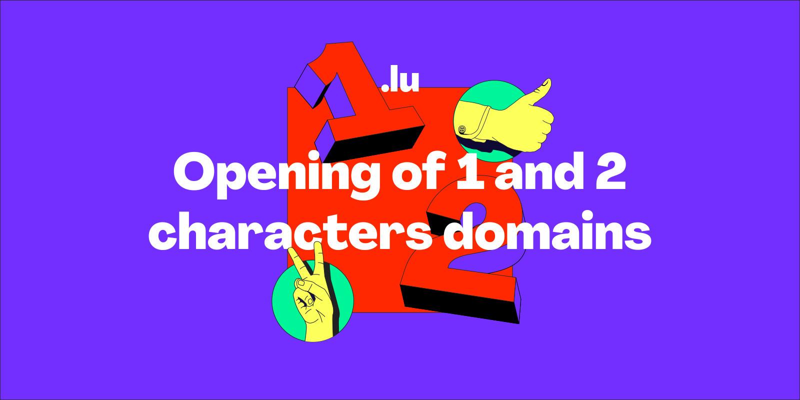 .LU 域名进入抢滩期:1 个及 2 个字元开放註册中!