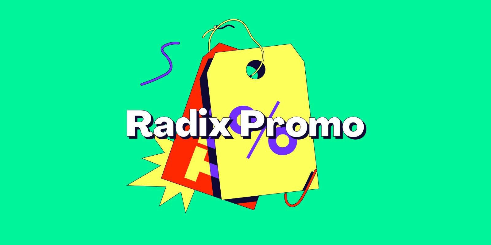 RADIX 10 種域名新年優惠中