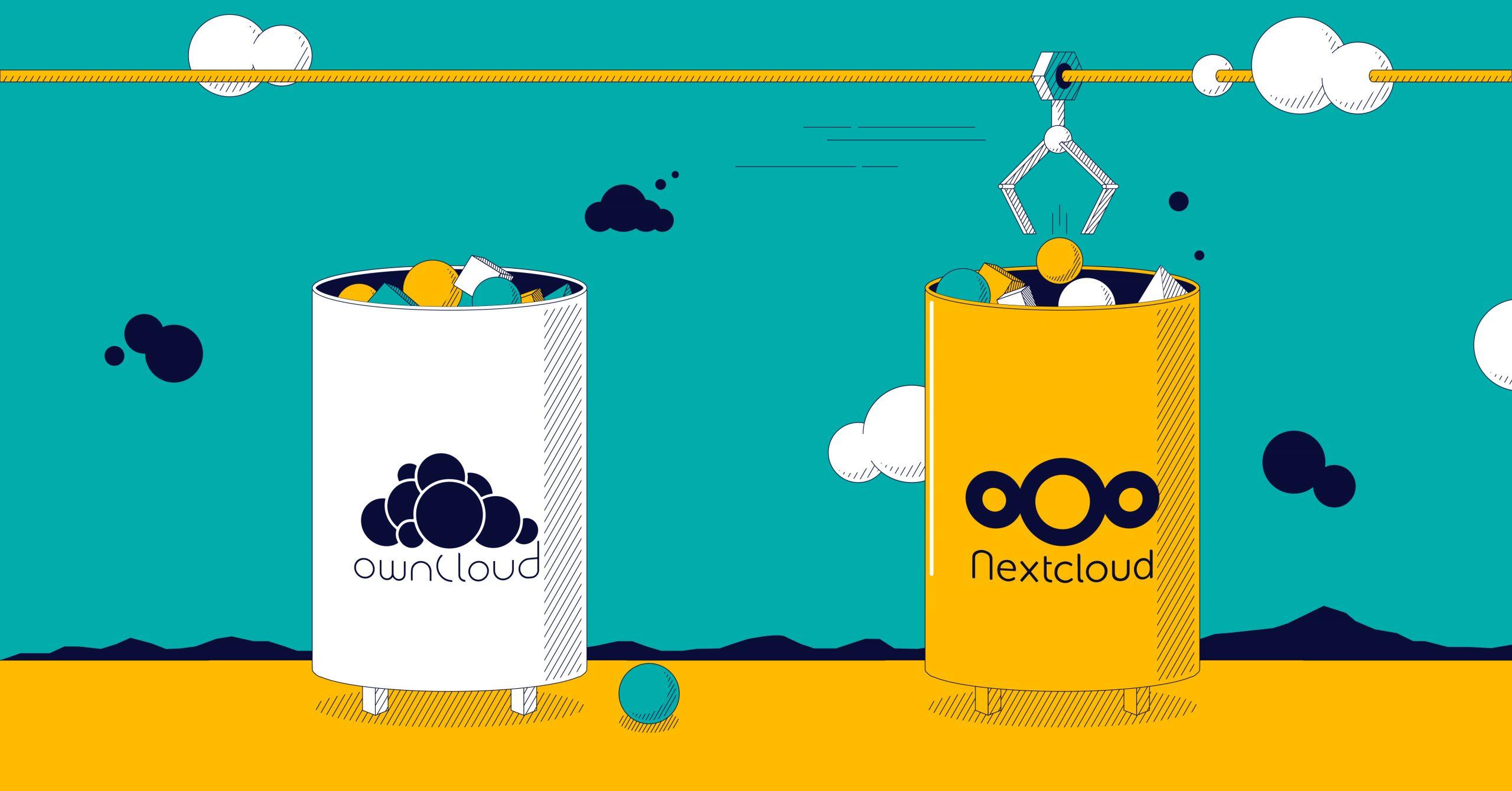 NextCloud と ownCloud : どちらのクラウドストレージソフトを選択したほうがよいでしょうか?