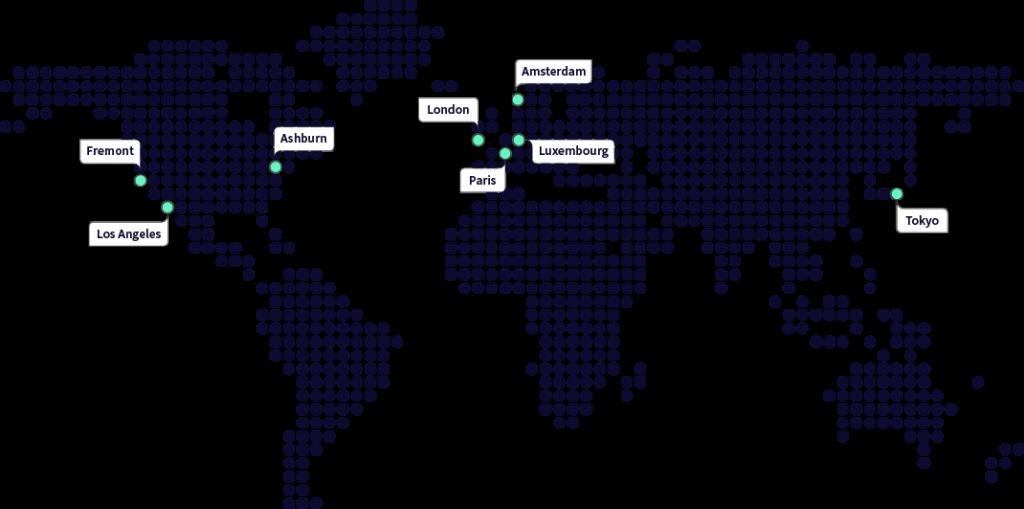 Carte POP DNS Gandi